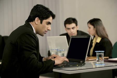 macintosh: Executives in a meeting Stock Photo