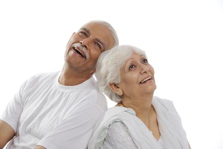 Oud paar lachend