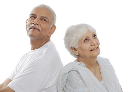 Old couple Stock Photo