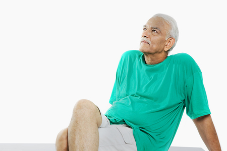 Old man relaxing Stock Photo