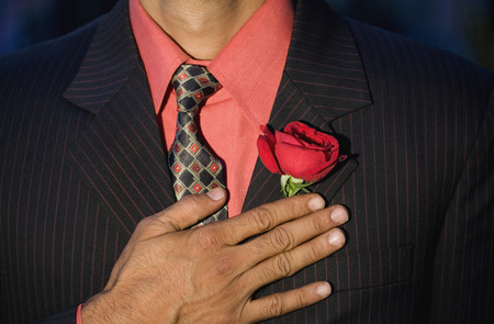 formals: Man with rose