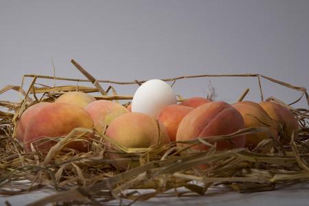 Peaches and an egg