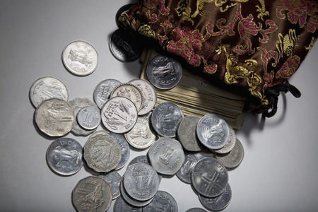 rupees: Coins and currency notes