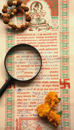 Indian Horoscope Stock Photo