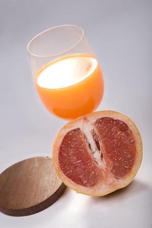 Orange with juice