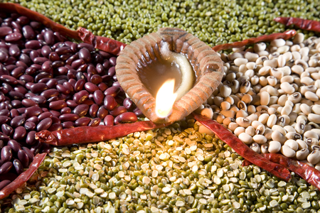 Indian pulses Stock Photo