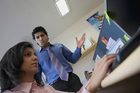 man scolding: Executives in the office Stock Photo