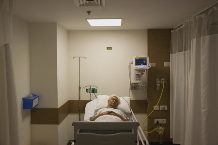 Patient resting in the hospital Stock Photo