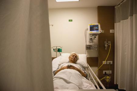 A patient resting