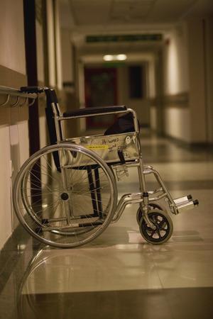 corridors: Wheelchair in the corridor