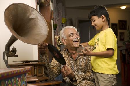kurta: Grandfather and grandson