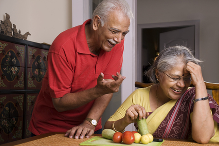 Old couple laughing Stock Photo - 80319299