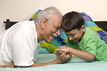 Grandfather and grandson Banco de Imagens - 80328433