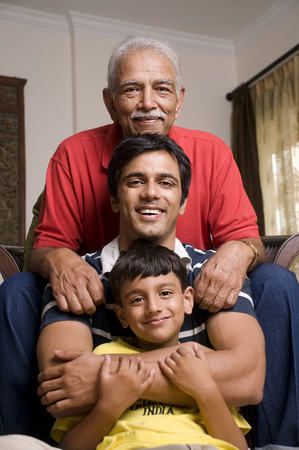 Three generations of a family Stock Photo - 80429131