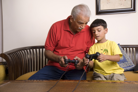 Grandfather and grandson Banco de Imagens - 80429138