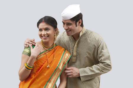 sutra: Maharashtrian couple Stock Photo
