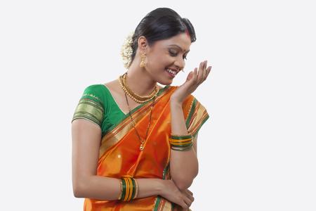 maharashtra: Maharashtrian woman smiling