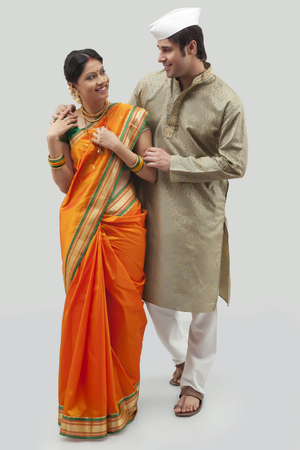 Maharashtrian couple Stock Photo