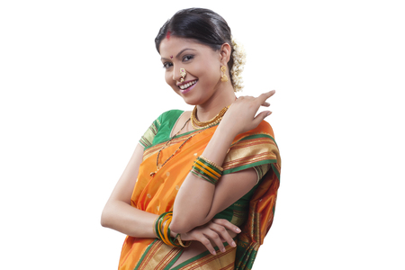 maharashtra: Portrait of a Maharashtrian woman smiling