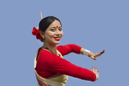 Portrait of a Bihu dancer