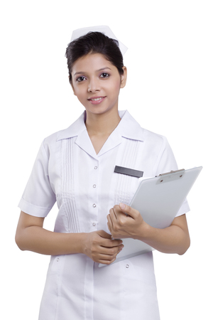 Portrait of a nurse with a clipboard Stock Photo - 80386617