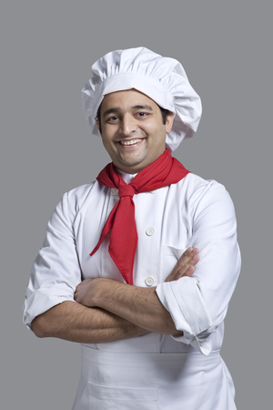Portrait of a chef smiling Stock Photo