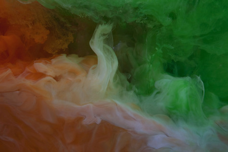 tricoloured: Paint dissolving in water