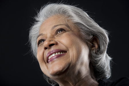Portrait of an old woman smiling
