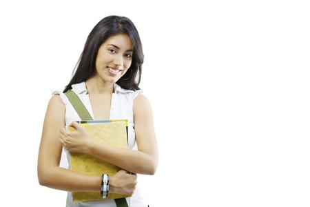 joyfulness: Girl posing with a book Stock Photo