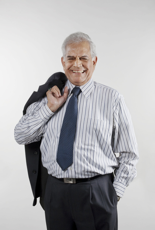 Businessman smiling Stock Photo