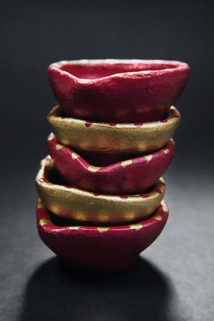 oillamp: Colourful diyas