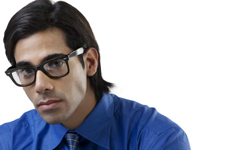 well dressed: Portrait of a businessman with glasses