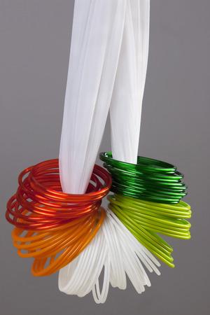 tricoloured: Different coloured bangles Stock Photo