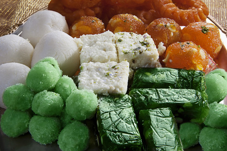 Different coloured sweets