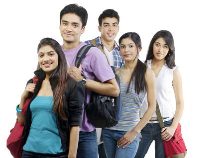 joyfulness: College students posing Stock Photo