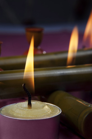 Candles in a decorative style Stock Photo