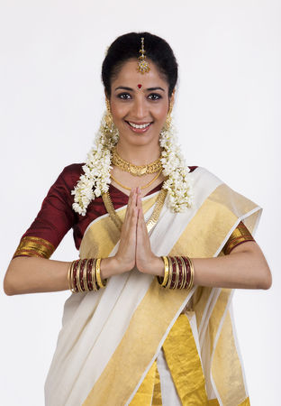South Indian woman greeting