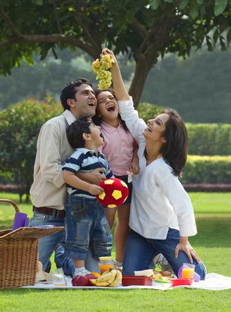 joyfulness: Family enjoying themselves at a picnic