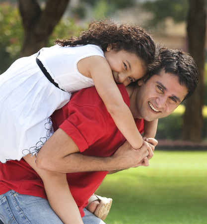joyfulness: Portrait of father and daughter
