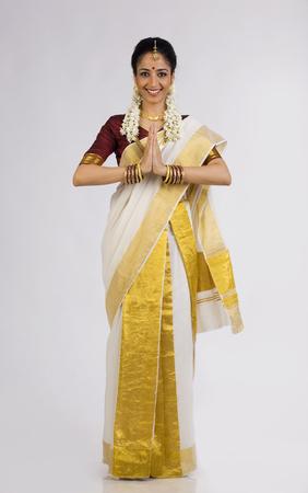 Zuid-Indiase vrouw groet