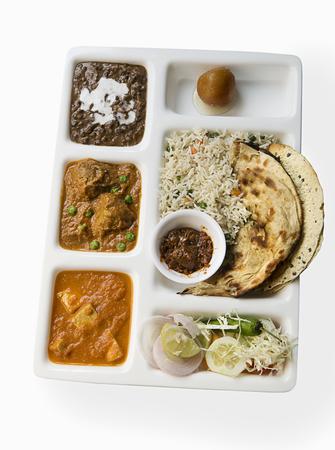 malai: Indian Thali Stock Photo