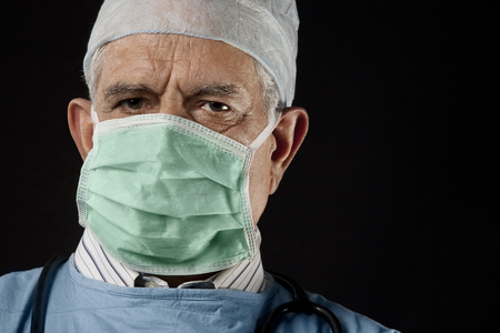 55 years old: Portrait of a surgeon Stock Photo