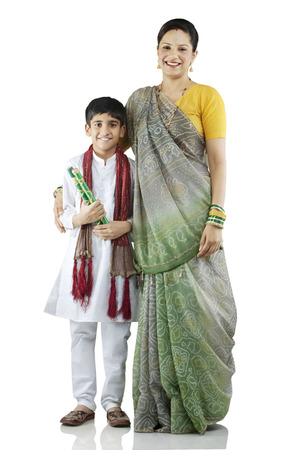 Gujarati mother and son