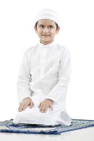 joyfulness: Portrait of a Muslim boy