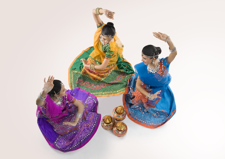 Gujarati women dancing