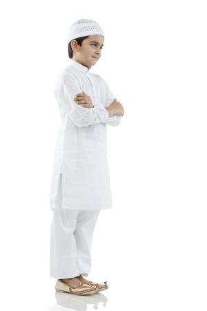 5 10: Muslim boy standing Stock Photo