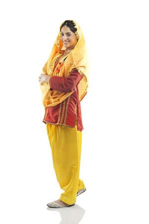 punjab: Portrait of a Sikh woman Stock Photo