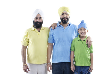 grand sons: Portrait of a Sikh family