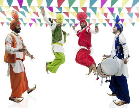 punjab: Sikh men dancing