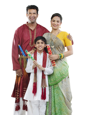Portrait of a Gujarati family